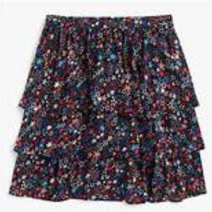 J Crew multicolor tiered kaleidoscope star skirt